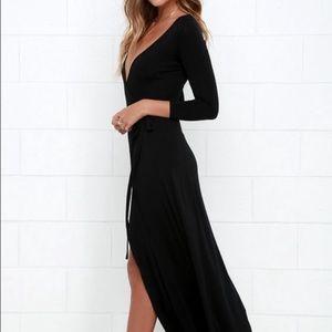 Lulus Garden District Wrap Maxi Dress